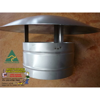 "5"" WOOD HEATER Steel FLUE CHINA HAT PIZZA OVEN RANGE HOOD FULL STAINLESS"