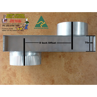 "6"" WOOD HEATER FLUE INBUILT S/S 9inch OFFSET diameter B/New"
