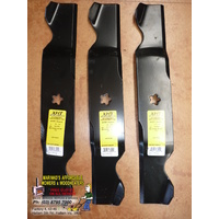 "Husqvarna 54"" RIDE ON MOWER BLADES 3 BLADES 532187254 53218725"